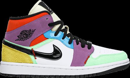 multicolor sneakers - jordan 1 multicolor w
