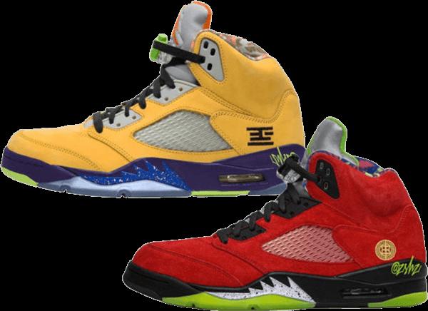 multicolor sneakers - jordan 5 what the