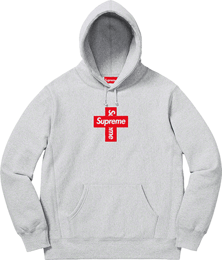 supreme preview - cross box logo hoodie