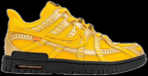 October Jordans - Yellow OW Rubber Dunk