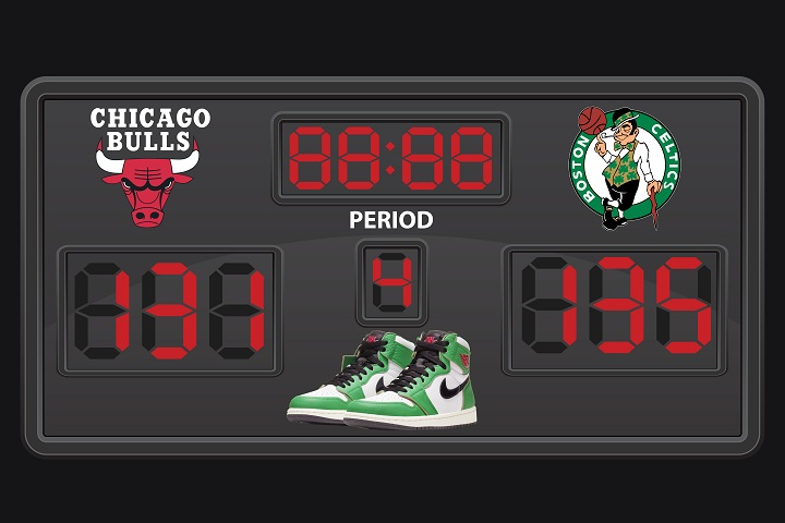 Jordan 1 Lucky Green Scoreboard