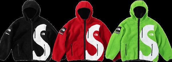 Supreme TNF fleece jacket