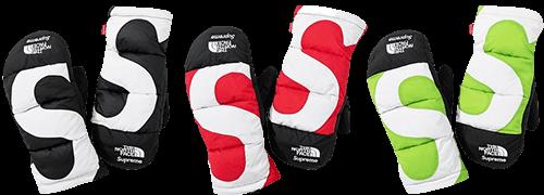 Supreme TNF gloves