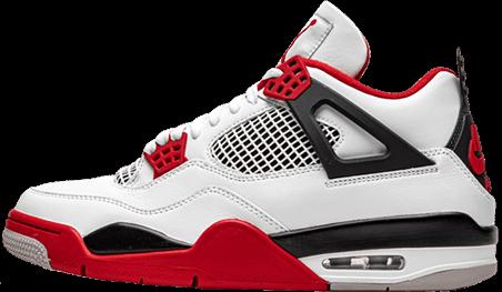 jordan 4 fire red - yeezy 500 black