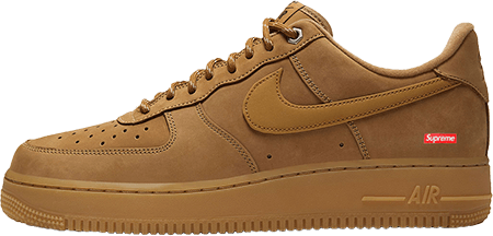 Best Sneakers 2021 - Supreme Air Force 1 Flax
