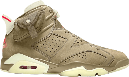 Best Sneakers 2021 - Travis Scott AJ6 British Khaki