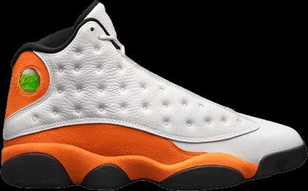 Orange Jordan 13 Starfish