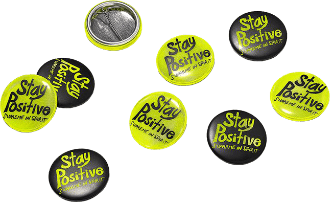 Supreme Chucky - Be positive buttons