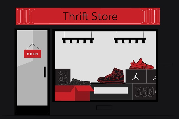 Buy sneakers - thrift stores