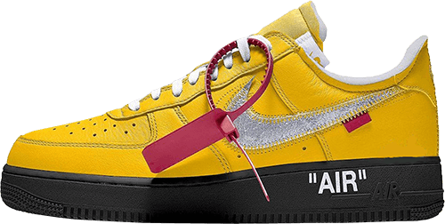 Nike Off White Sneakers Air Force 1 Yellow Black