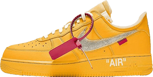 Nike Off White Sneakers Air Force 1 Yellow
