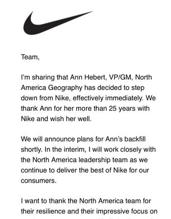 Nike VP Resigns - Backdoor shoes