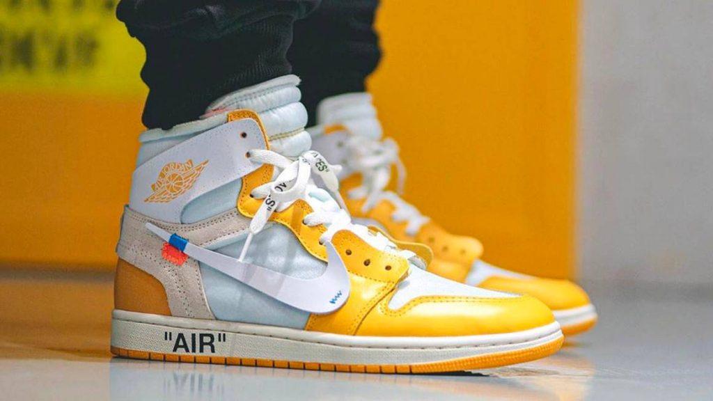 Off White Jordan 1 Canary Yellow