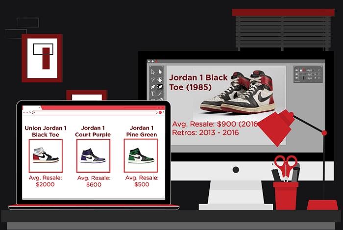 Jordan 1 colorways - Black Toes