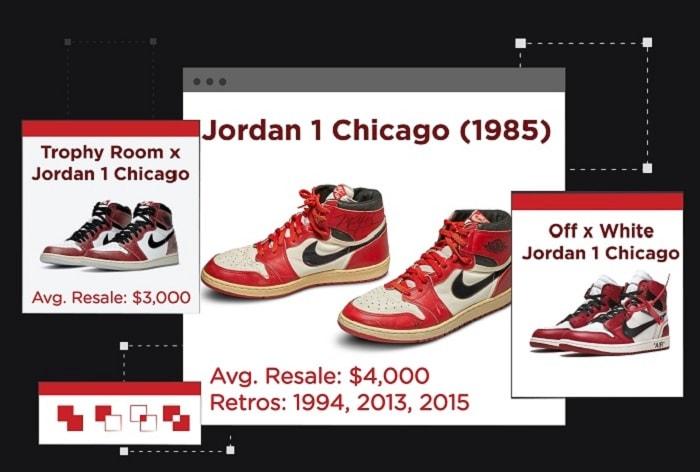 Jordan 1 colorways - Chicago
