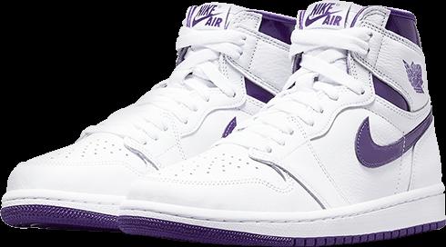 Jordan 1 court purple 2021