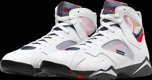 white Jordan 7 PSG 2021