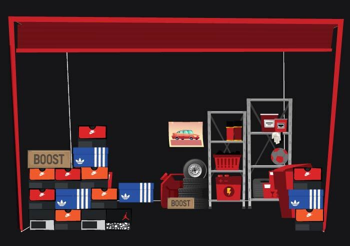 sneaker storage - intermediate