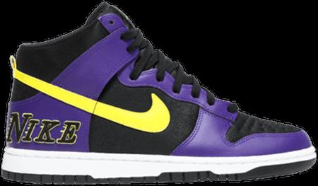 Cheap Nike Dunks - Nike Dunk High EMB Lakers