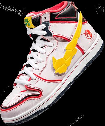Nike Parra SB Dunks Gundam White