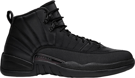 Black Jordan 12 Winterized