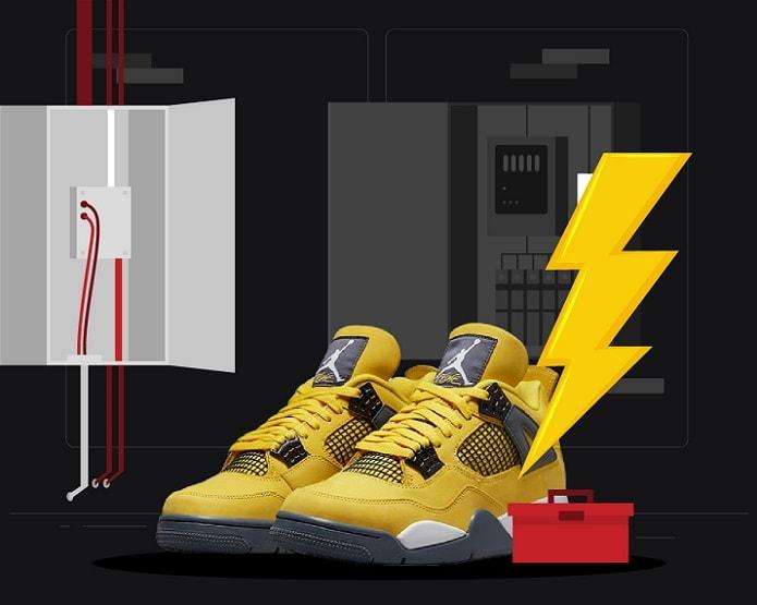 Jordan 4 Lightning August 2021