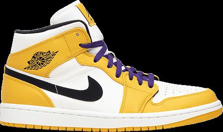 Jordan 1 Mid Lakers