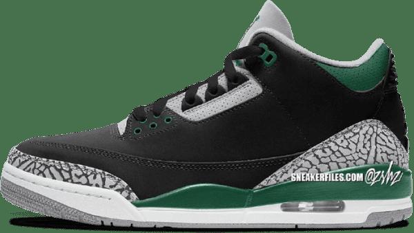 Jordan 3 Pine green - holiday jordans