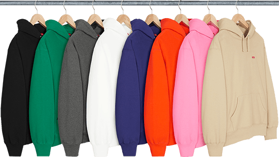 Supreme left to drop hoodie