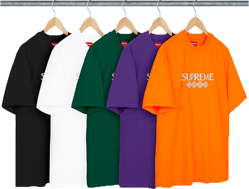 Supreme left to drop tshirt glitter