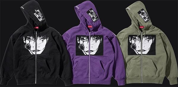 supreme logo hoodie - the crow hood jacket