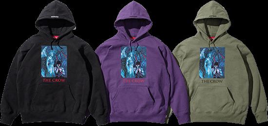 supreme the crow hoodies