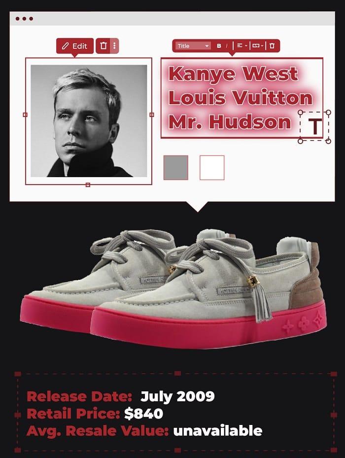 Kanye west Louis vuitton mr hudson
