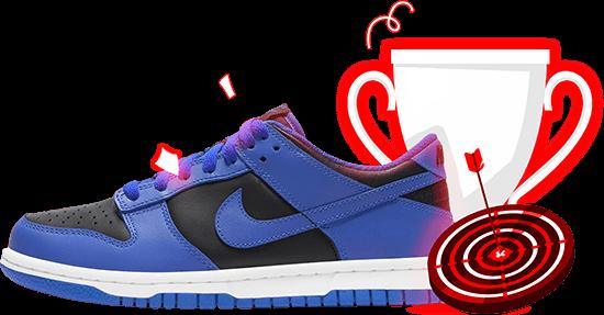 Nike Dunk Low Retro Black Hyper Cobalt (2021)