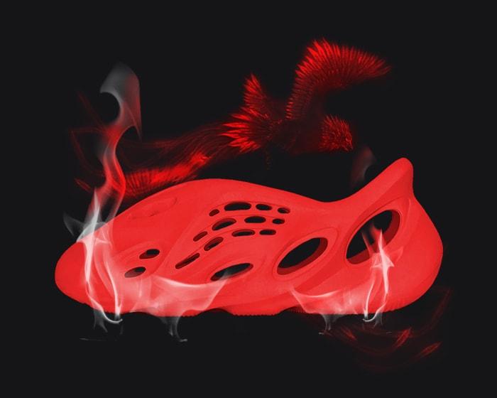 red yeezys - foam runner vermillion