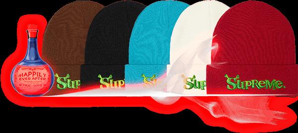 supreme shrek beanies