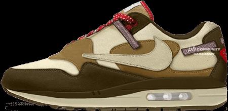 travis scott air max 1 baroque brown